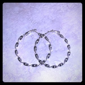 .925 sterling silver hoops new!